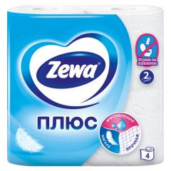 Зева Плюс бумага туалетн. белая №4