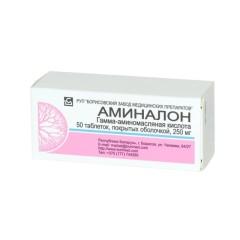 Аминалон таблетки п.о 250мг №50