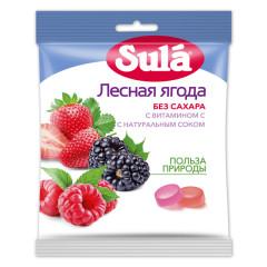 Зула леденцы Лесная ягода пакет 60г