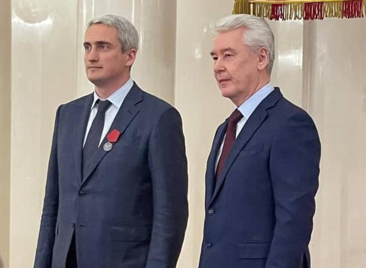 С. Собянин вручил Е. Нифантьеву медаль ордена «За заслуги перед отечеством» II степени